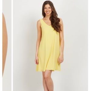 Chiffon yellow maternity dress